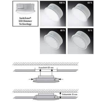 Neuhaus LED-Einbau switchmo mattalu 7590-95